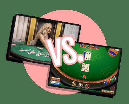 Live casino games vs table games