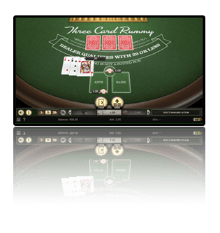 Popular Betsoft table game Three Card Rummy